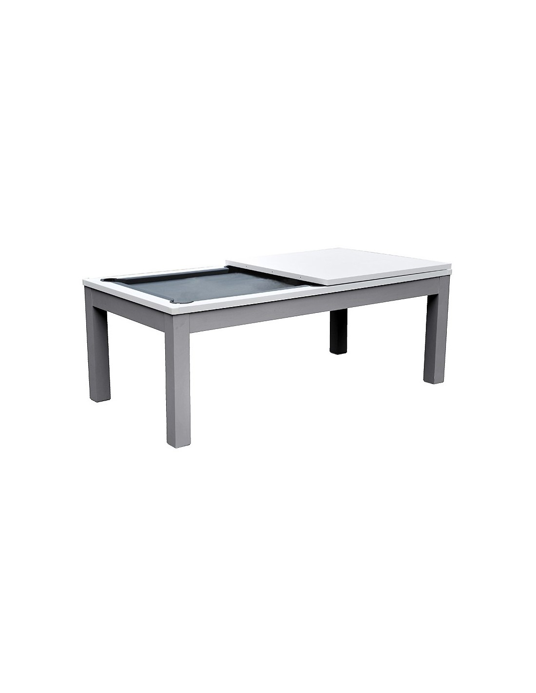 table manger billard blanc et gris. Black Bedroom Furniture Sets. Home Design Ideas