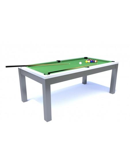 table manger billard blanc et gris. Black Bedroom Furniture Sets. Home Design Ideas