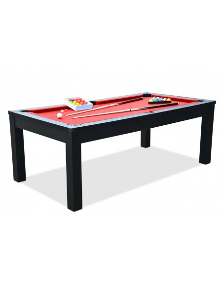 Table manger billard noir for Table a manger convertible