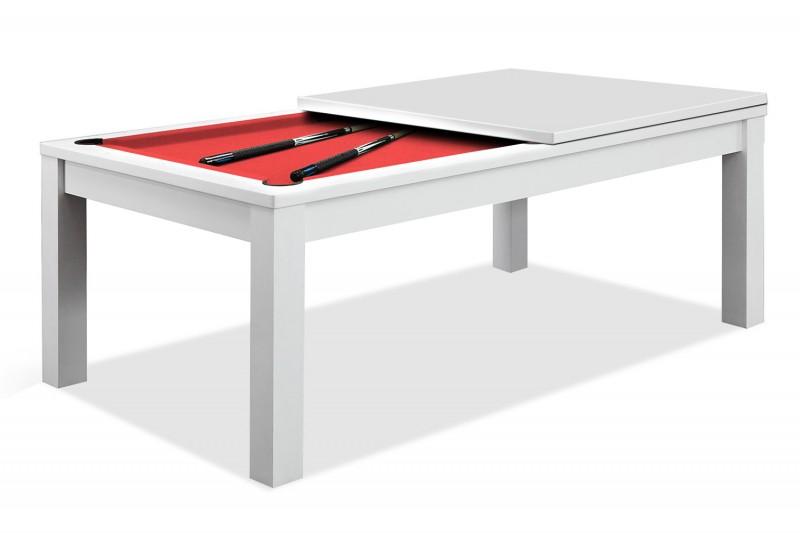 TABLE À MANGER BILLARD BLANC